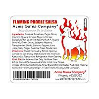 Flaming Poodle Salsa Labels