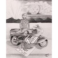 BMW Bike For All Seasons Illustration (Pencil)