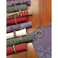 Studio Photo: Vicenza Designs Napkin Ring Ad